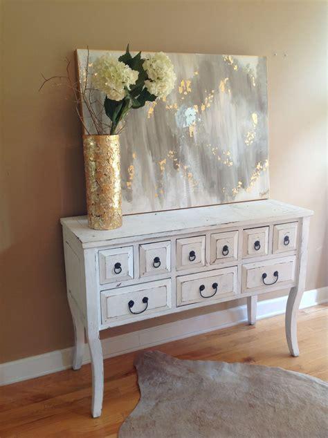 abstract art white gray gold high gloss finish