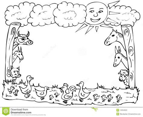 animal farm frame stock illustration illustration  duck