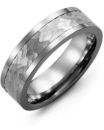 hammered effect wedding ring men s hammer effect wedding ring madani rings