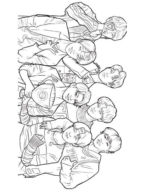 bts coloring pages   print bts coloring pages