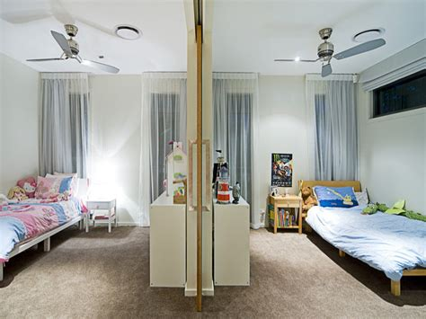 children room bedroom design idea carpet sliding doors