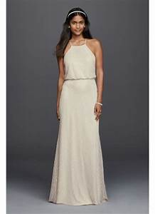 halter sheath casual wedding dress with beading davids With halter sheath wedding dress