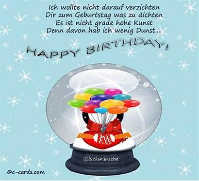 German Birthday Schneekugel Cards Wishes Greetings Card