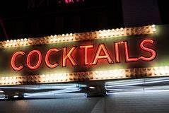 Neon Cocktails Bar Symbols ai Stock Vector Illustration