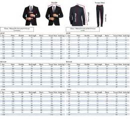 Men's Suit Size Chart