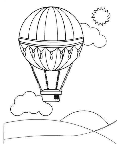 hot air balloons coloring pages  kids updated