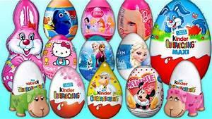 Kinder überraschung Maxi : 20 surprise eggs kinder joy berraschung maxi bunny disney toy disney youtube ~ Eleganceandgraceweddings.com Haus und Dekorationen
