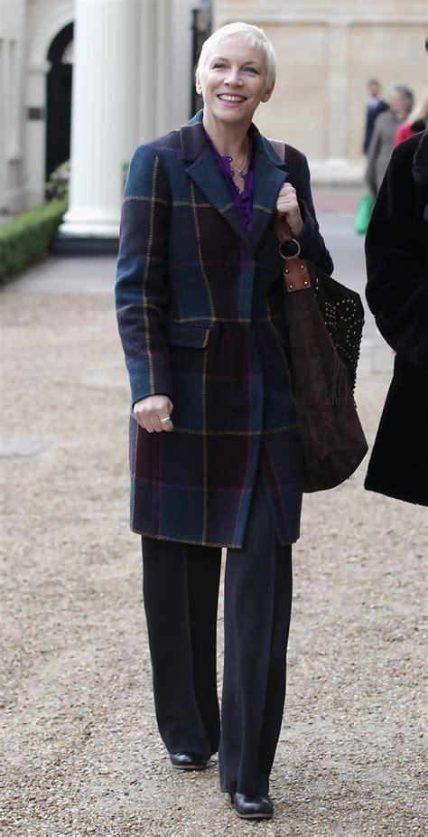 annie lennox wool coat annie lennox  stylebistro