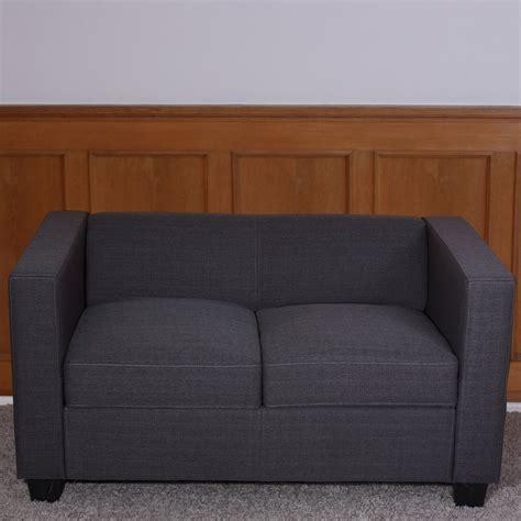 canape lille 2er sofa loungesofa lille kunstleder leder