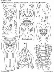 1000 images about native america for kids on pinterest With totem pole design template