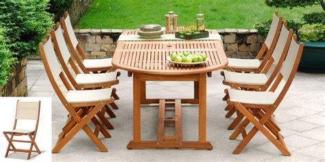table de jardin en bois salon de jardin bois eucalyptus porquerolles table ovale 6 chaises oogarden
