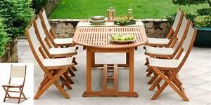 Table De Jardin Ovale : salon de jardin bois eucalyptus porquerolles table ~ Teatrodelosmanantiales.com Idées de Décoration
