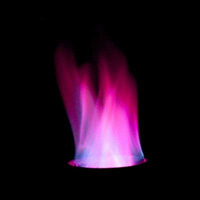 what color is potassium rainbow colored flames using household chemicals