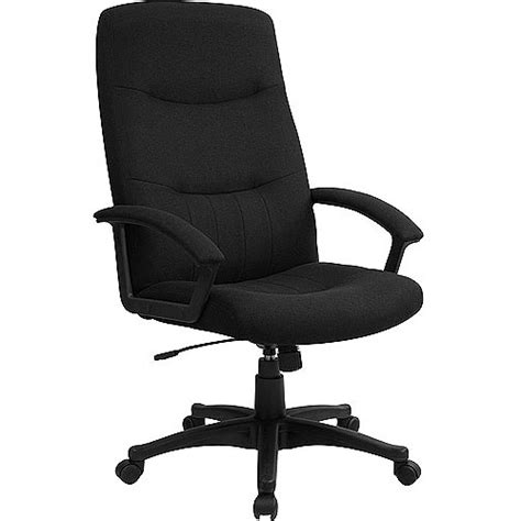 Office Chairs At Walmart by Fabric Upholstered Executive High Back Swivel Office Chair