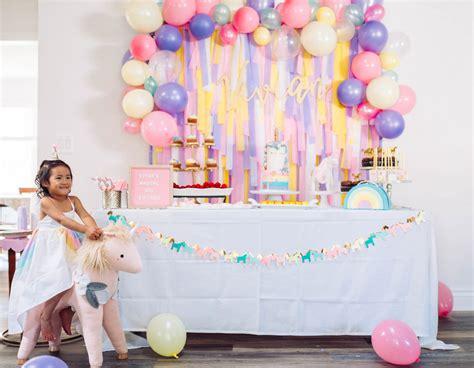 magical unicorn birthday party birthday party magical unicorn birthday party a la mode