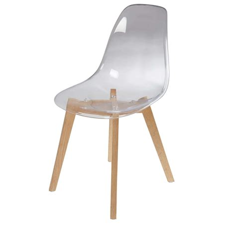 chaises transparentes but chaise scandinave transparente maisons du monde