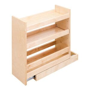 Base Cabinet Spice Rack by Base Cabinet Filler Pullout Spice Rack Real Wood Roll Out