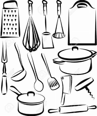 Kitchen Utensil Utensils Cooking Coloring Drawing Tools