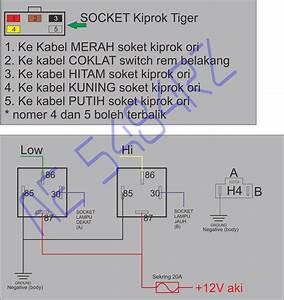 Pasang Kiprok Tiger Dan Relay Lampu Scorpio