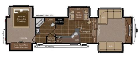 montana 5th wheel floor plans 2013 2012 keystone montana 3750fl fifth wheel tucson az