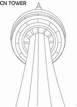 Tower Cn Coloring Pages Printable Landmarks Famous Math Canada Craft Royal Fun Cabin Sugar Visit Challenge Class Studyvillage Discover sketch template
