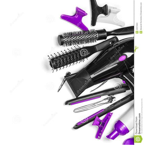 hairdresser tools stock photo image  device modern