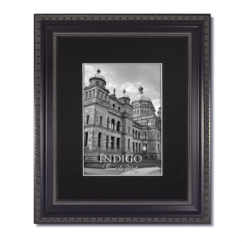 frame matted to 11x14 one 11x14 ornate black picture frame glass single black