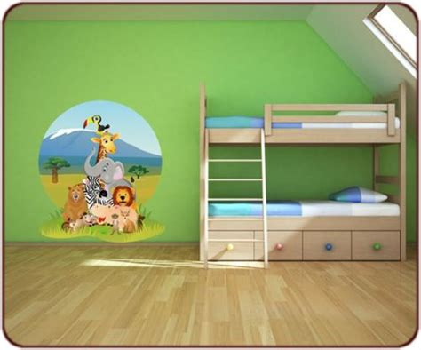 déco jungle chambre bébé stickers jungle sticker animaux afrique