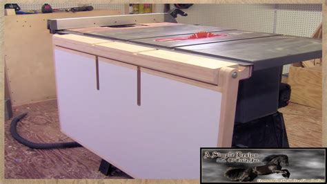 make a table saw table make a table saw out feed table youtube