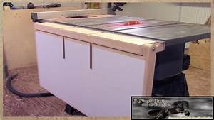 Make A Table Saw Out Feed Table - YouTube