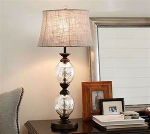 stacked mercury glass table lamp base pottery barn With pottery barn floor lamp with built in table