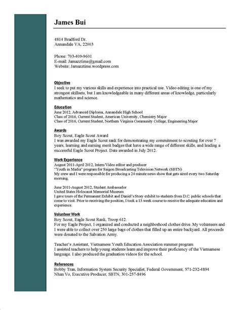 resume format resume for my business