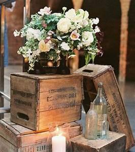 Décoration Mariage Champêtre Chic : 1001 id es et tutos pour fabriquer un meuble en cagette ~ Melissatoandfro.com Idées de Décoration