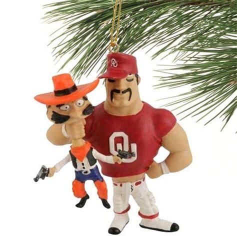 oklahoma state university christmas ornaments oklahoma sooners vs oklahoma state rivalry ornament i