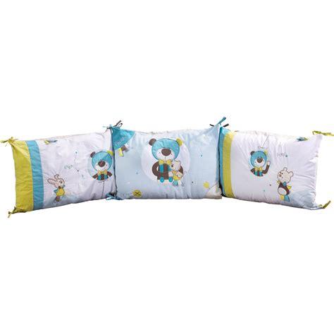 tour de lit bebe aubert paddy tour de lit bleu vert de sauthon baby d 233 co tours de lit aubert