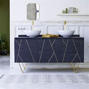 Meuble En Manguier : meuble salle de bain vente de meubles en manguier et laiton 155 cm tikamoon ~ Teatrodelosmanantiales.com Idées de Décoration