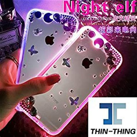 light up phone thin thing bling flower butterfly rhinestone