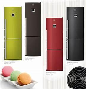 Réfrigérateur De Couleur : refrigerateur couleur brun congelateur tiroir ~ Premium-room.com Idées de Décoration