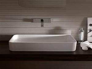 Grande Vasque À Poser : la vasque poser rectangulaire en 67 photos inspirantes ~ Melissatoandfro.com Idées de Décoration