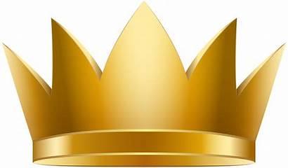 Crown Clipart Golden Clip Crowns Transparent Queen