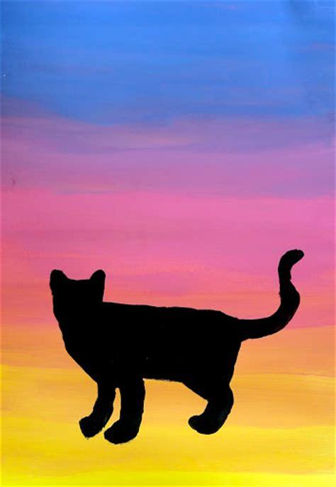 silhouette  colorful gradation