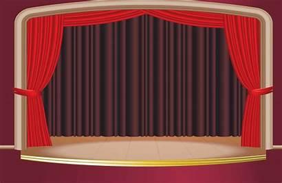 Curtain Stage Open Animated Martin Kenny Illustration