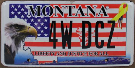 Tennessee Vanity Plates by Montana Flat Eagle Liberty