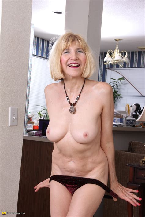 Naughty American Mature Lady Teasing And Playing Granny Swinger