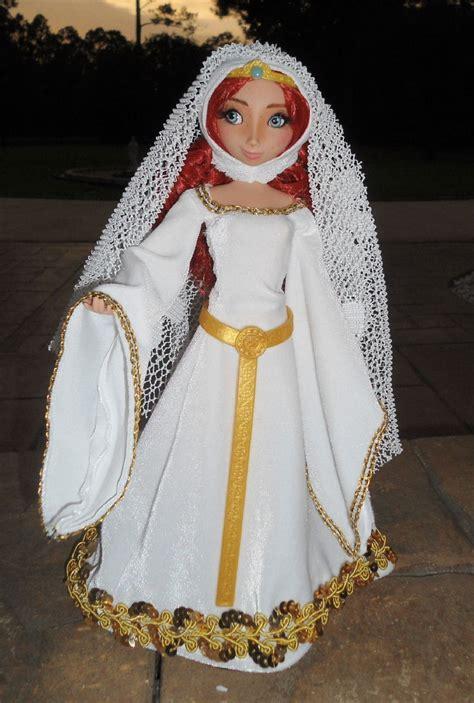 donald merida  wedding doll set