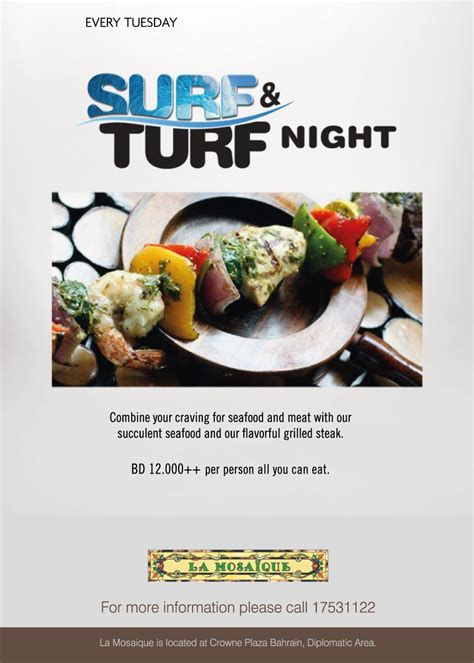 surf turf crowne plaza whatsupbahrainnet