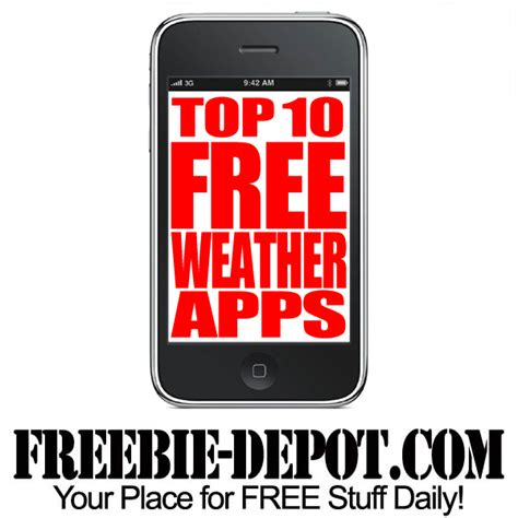 best free weather app for iphone top 10 free weather apps for iphone freebie depot