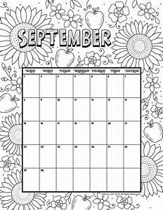 September 2019 Coloring Calendar