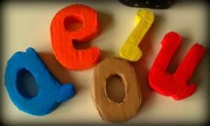 Cómo hacer letras de cartón para niños Rusketa