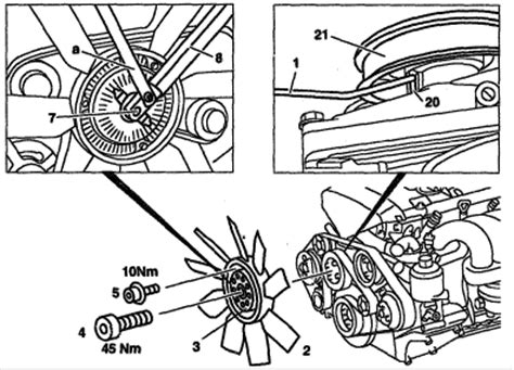 how to remove fan clutch without tool i am trying to pull fan clutch on my 95 c280 i do not